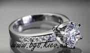 Кольцо из белого золота с бриллиантом Tiffany & Co (Тиффани)