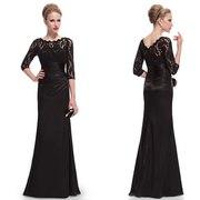 Чёрное стильное вечернее платье