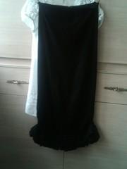 Черная длинная стрейтч юбка 46 размер