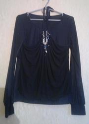Блуза с драпировкой,  размер 42-44