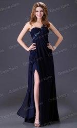 Шикарное вечернее платье синее