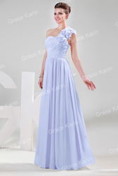 Праздничное шикарное вечернее платье небесно-голубое.