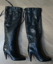 Сапоги демесехонные  итальянские кожаные 38 р