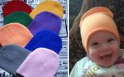 Детские трикотажные вязаные демисезонные шапки