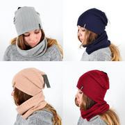 Женский комплект шапка,  хомут на сезон осень,  зима