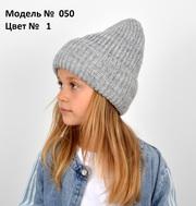 Детская подростковая вязаная шапка,  зимняя