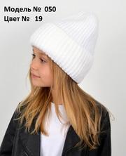 Вязаная зимняя шапка для девочки