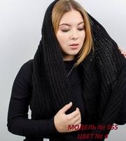 Женский вязаный снуд,  зима
